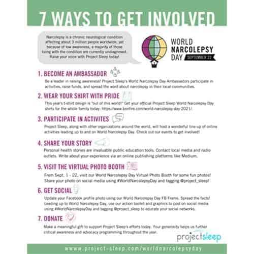 7 ways to get involved 2021 world narcolepsy day