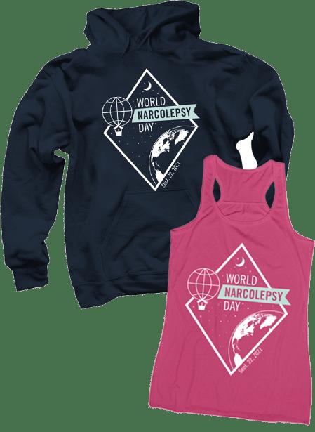 World Narcolepsy Day 2021 sweatshirt and tank top