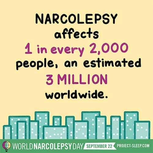 narcolepsy affects 1 in every 2000 people